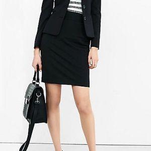 Express High Waist Black Pencil Skirt